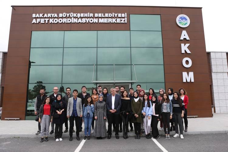 Bölümümüz Öğrencileri Büyükşehir Belediyesi ve AKOM'u Ziyaret Etti